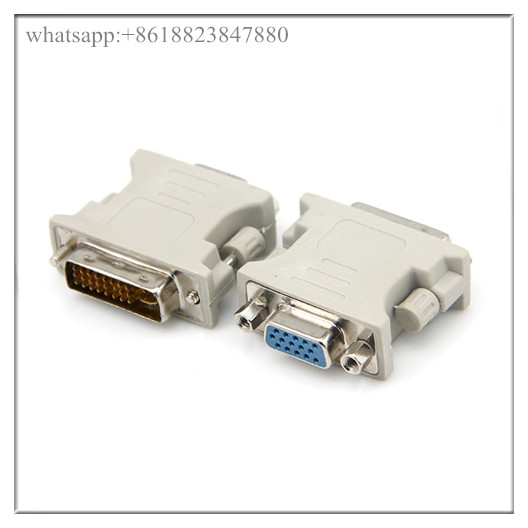DVI-I DVI-A Male to VGA SVGA HD 15 pin Female Analog Video Adapter for Graphics Card GPU Laptop,DVI
