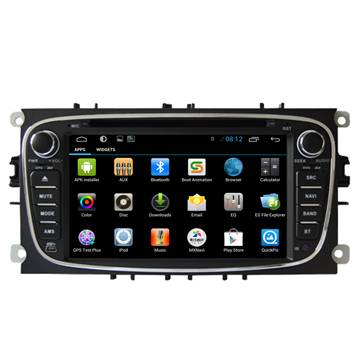 "7"" indash dual zone car dvd gps player with Android mulitfunction system for FORD Mondeo/Focus(Black"