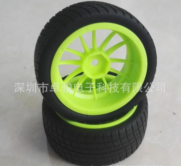 High-resilience rubber vacuum caster wheel,6 cornner inside 1/10 running car wheel Arduino Accessory