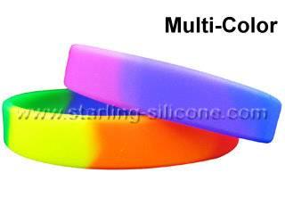 STARLING Silicone- Multi-Color Silicone Wristbands, Rainbow Silicone Bracelets, Silicone Bracelets