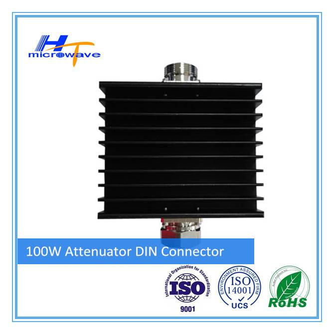 RF fixed Coaxial Attenuator 100W DIN-M/DIN-F connector indoor outdoor use