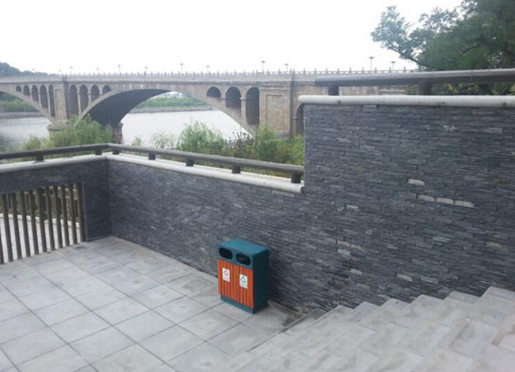 black slate culture stone panel for exterior wall cladding decoration