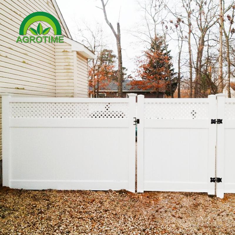 Strong UV resistance White PVC Vinyl Plastic used fence panels