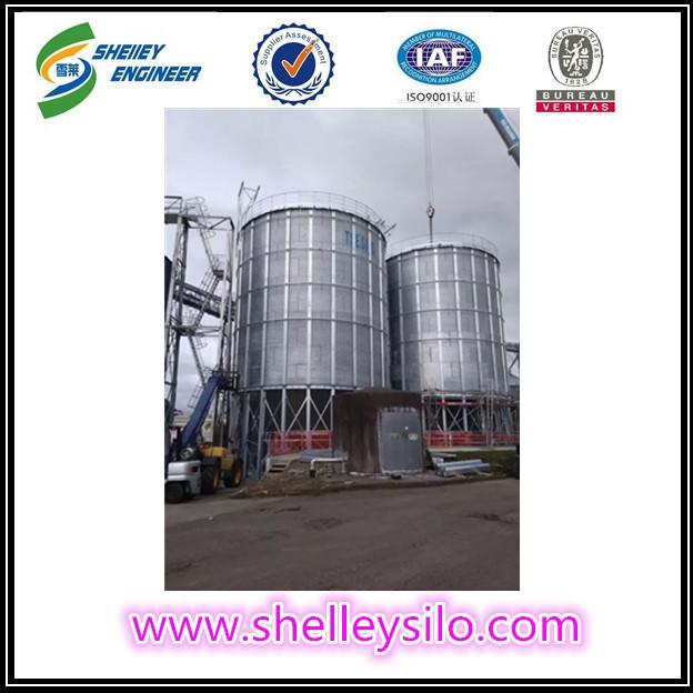 Steel rice husk storage silo for rice storage