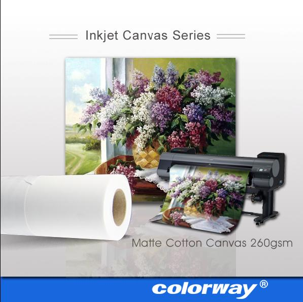 wide format cotton Canvas for inkjet printers