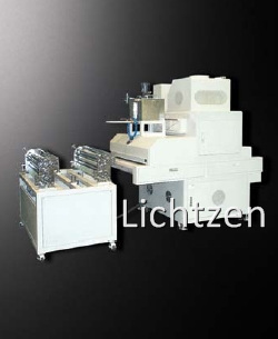 roll coater + uv curing machine