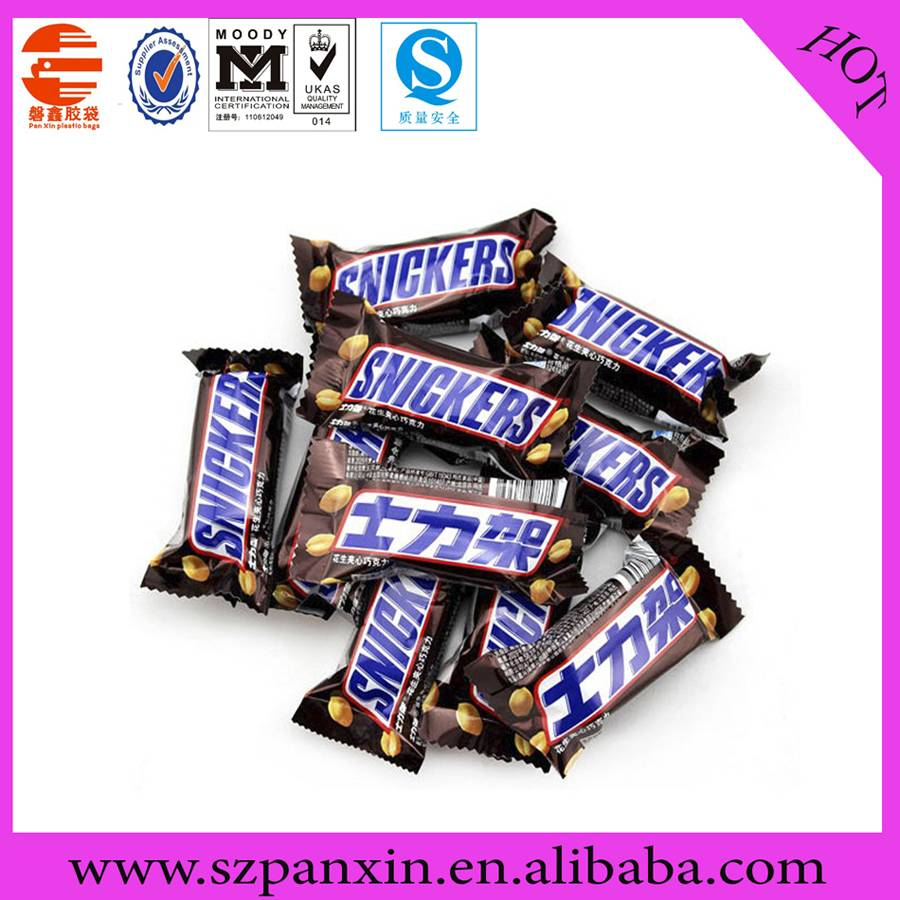 chocolate packaging plastic bag