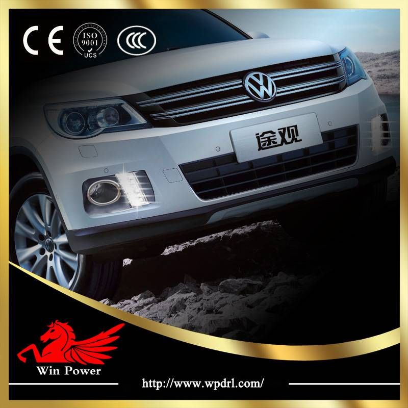 New super bright Volkswagen VW Tiguan Osram led day running lamps DRL with CE E-Mark
