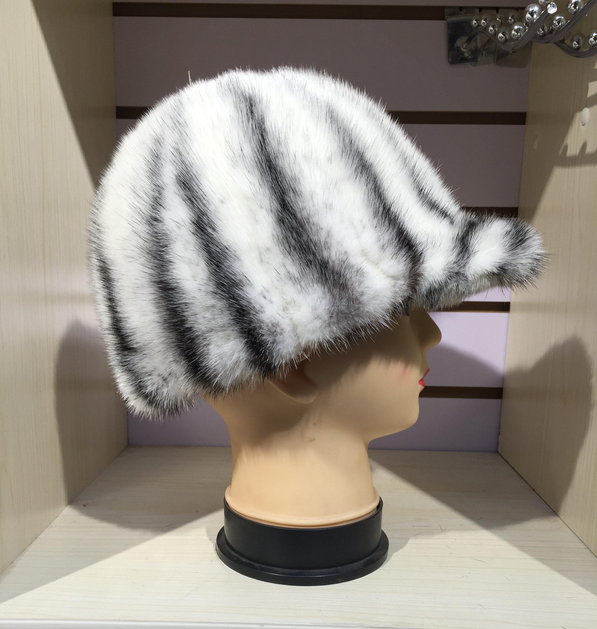 Mink Fur Hat Fashion Style