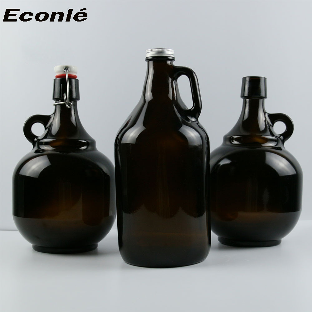 swing top 32oz and 64oz Growler amber glass bottle for beer