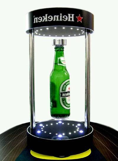 magnetic floating bottle frame