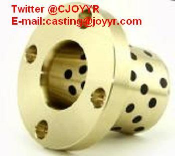 plain sleeve bearing, Flanged bushing, self-lubricating bearing/plug graphite bearing