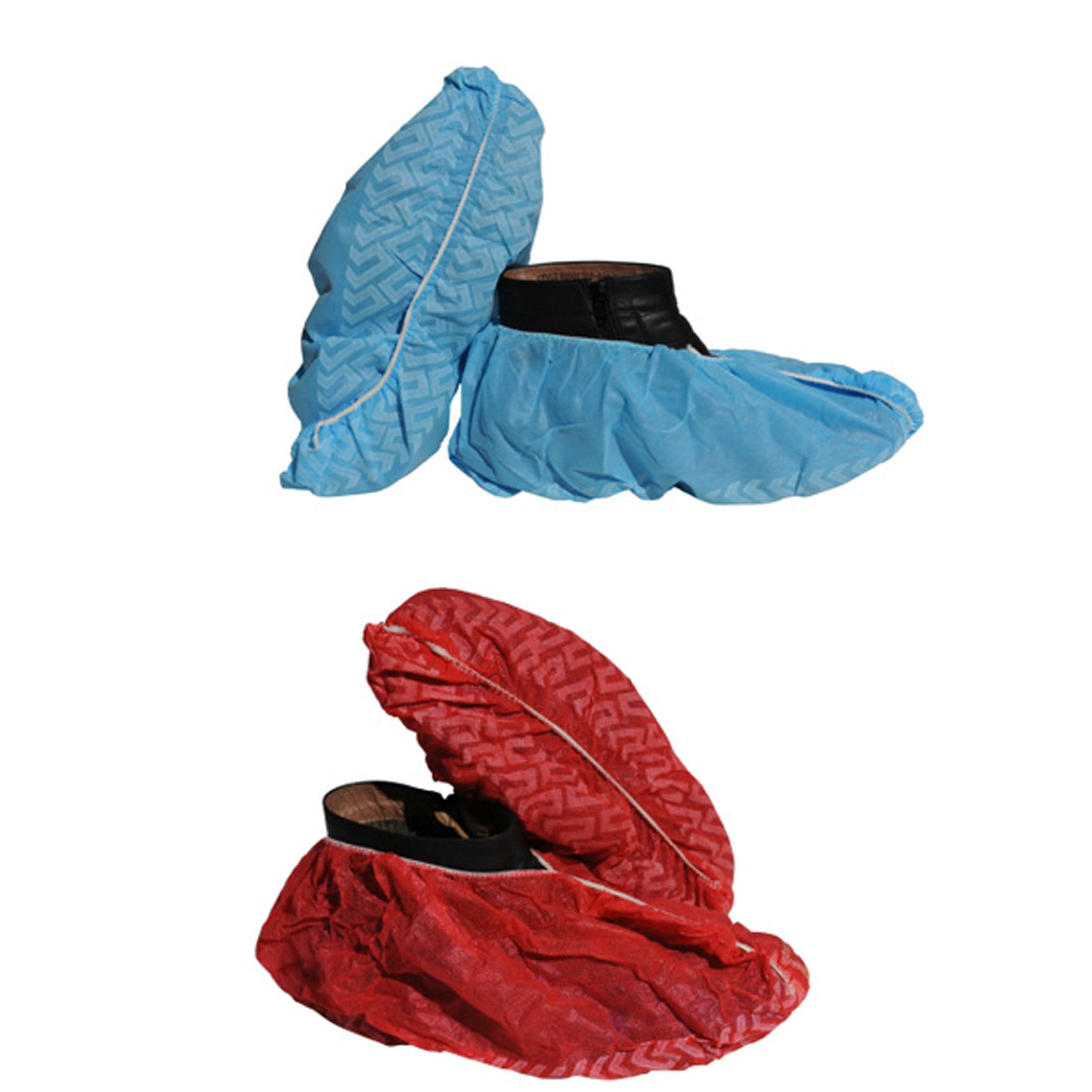 tacky CPE red shoe cover disposable nonwoven clinic shoes cover