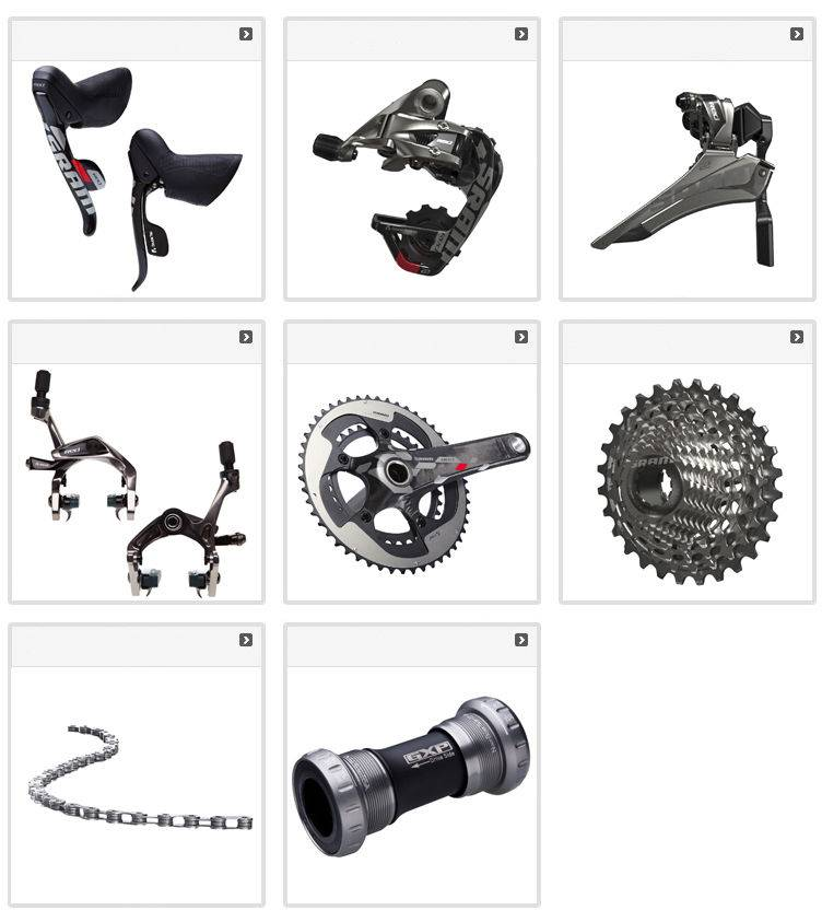 New 2014 SRAM RED 22 8-PC Groupset Group Set Kit
