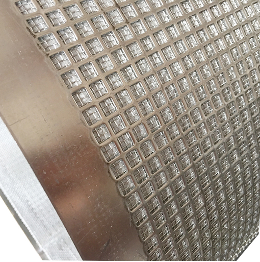 Stainless Steel Square Hole Sintered Wire Mesh / punched plate mesh for filtration