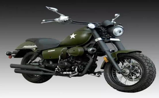 250cc-8 green motorcycle