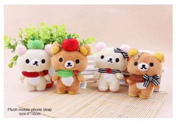 Plush Rilakkuma Mobile Phone Strap