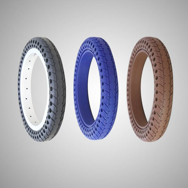 121.5 inch solid airless child bike tire