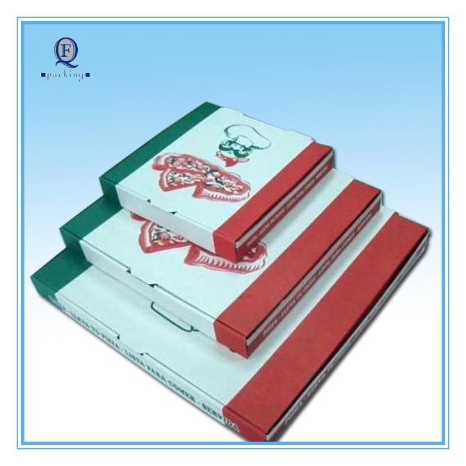 custom corrugated pizza box/recycle material and reasonable price pizza box