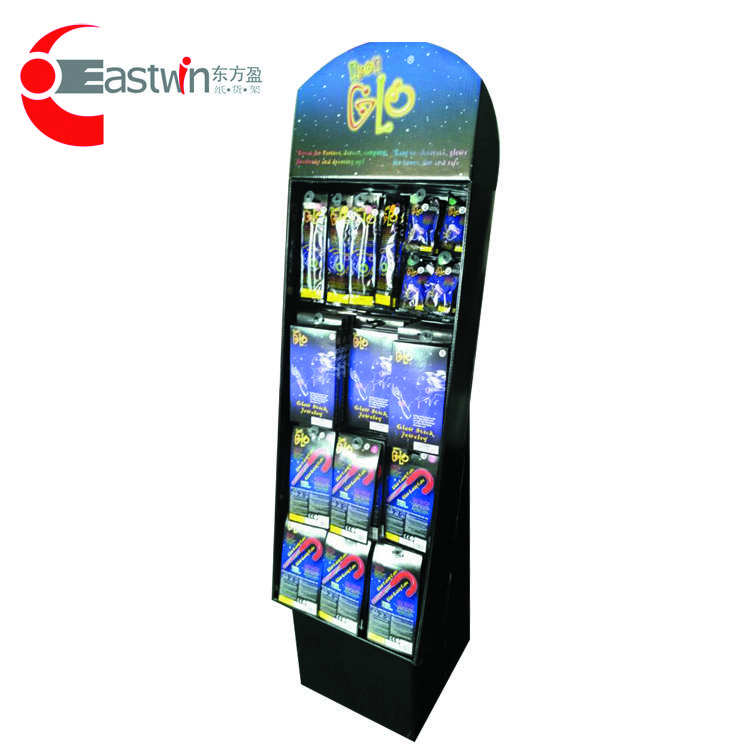 High quality with cheap price custom print and logo cardboard paper dancing display shelf