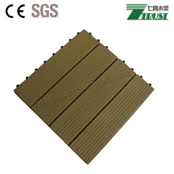 Waterproof wood plastic composite decking UV resistant outdoor WPC DIY decking