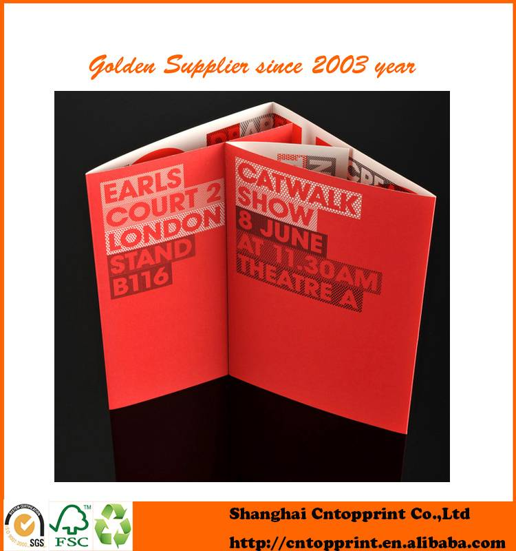 Durable Mini Folding Booklet Varnishing Digital Brochure