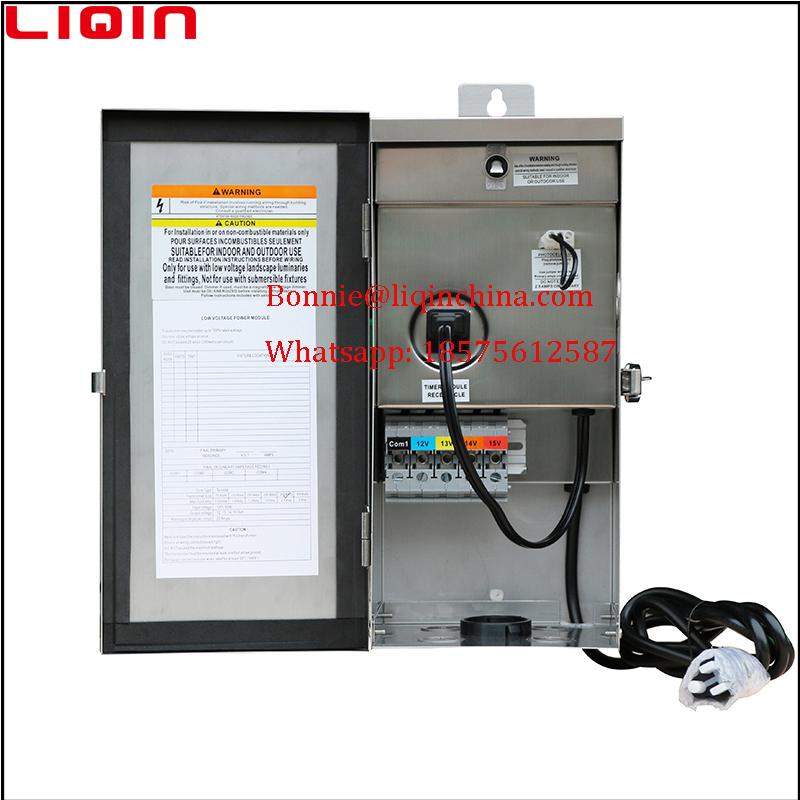 300 watt 12v multi tap low voltage landscape lighting transformer