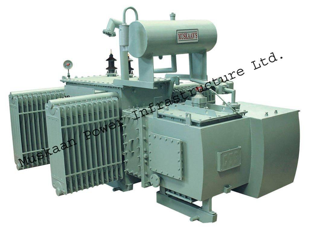 Transformer with OLTC arrangement
