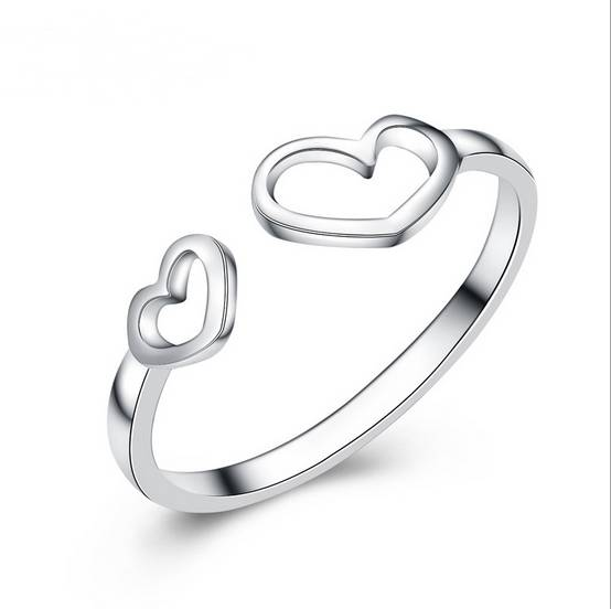 High Quality Women Rings Hollow Heart Rings 925 Sterling Silver Rings Finger Rings Wedding Rings
