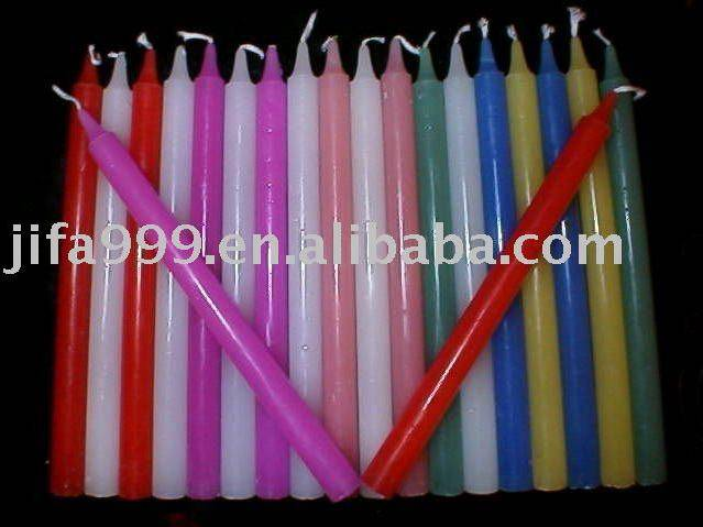 100%wax colorful candle