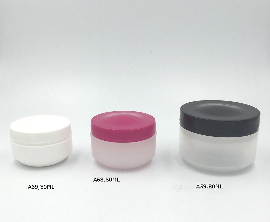 Plastic Face Cream Jar Sample Packaging
