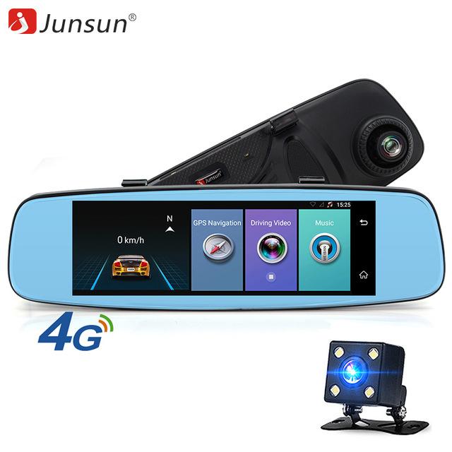 """Junsun A880 4G Car Camera With ADAS 7.86"""" FHD1080P Dash Cam DVR Bluetooth Wifi"""