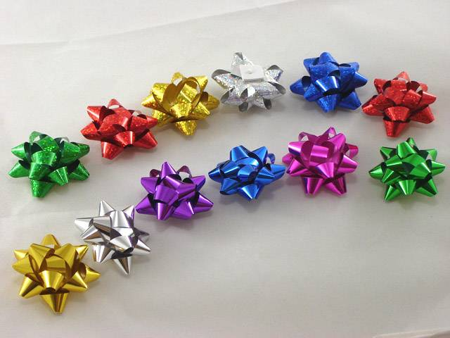 gold and silver metallic PP Star Bow