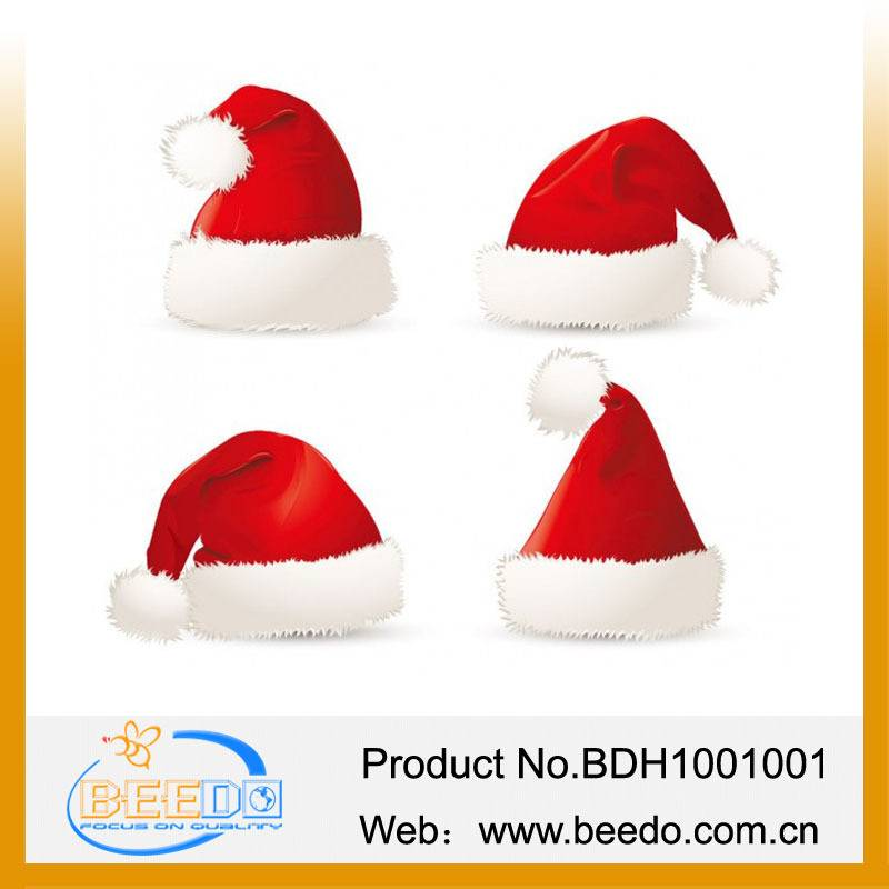 2014 hot selling plush christmas hat for kids