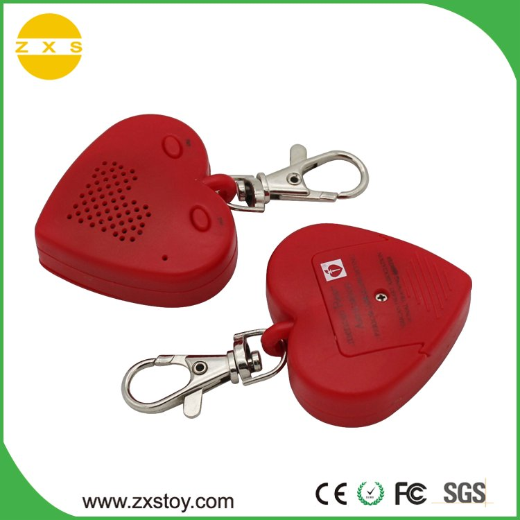 heart shape recordable keychain