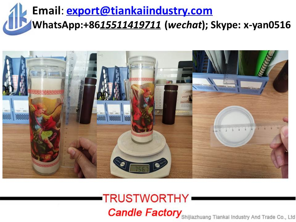 factory price religious candle 7 days glass jars candle from china