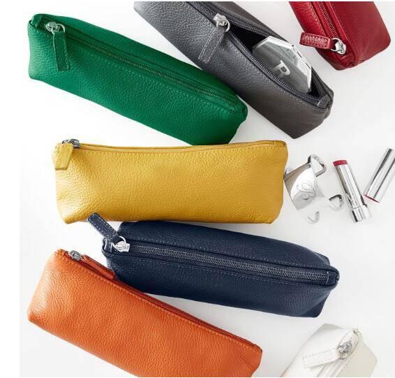 wholesale leather travel cosmetic zipper case bag makeup case/leather cosmetic bag/cosmetic bag pu l
