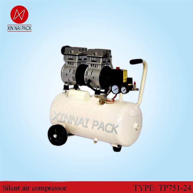 TP751-24 Cheap Safety Oil Free Air Compressor with 24 Air Tank