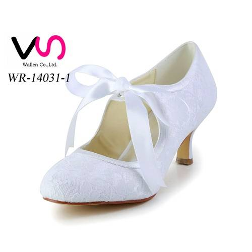 Vintage nice lace pump bridal wedding shoes for women