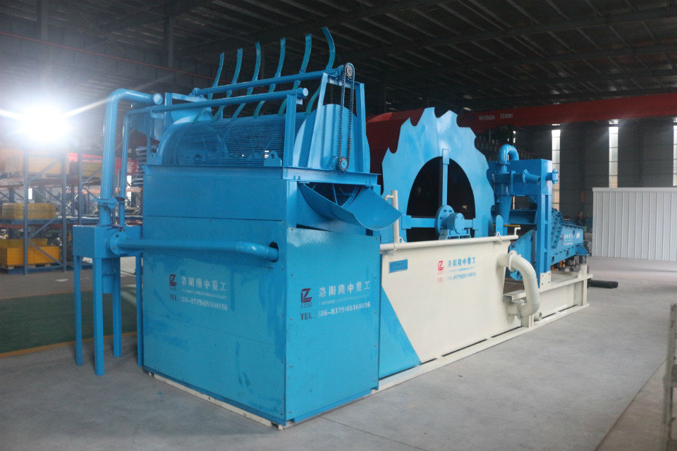 Compact Sand Washer With Trommel Screen