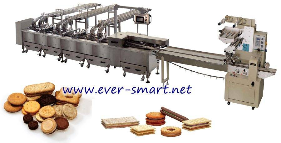 3+2 Sandwiching Machine Connect with Packaging Machine
