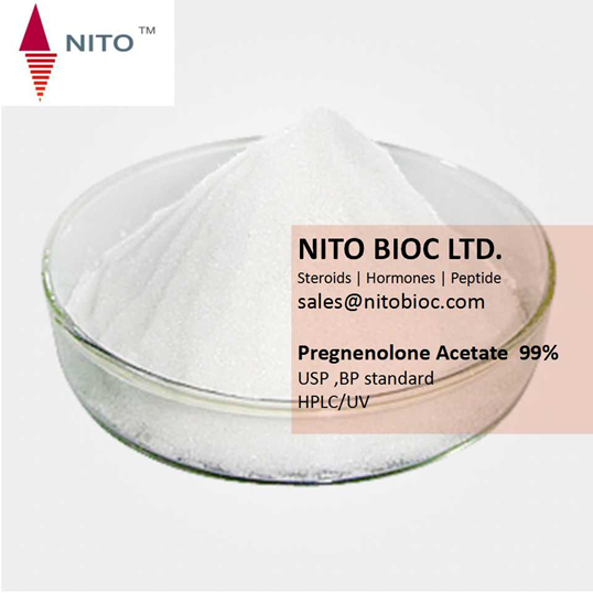 Factory Quality Control, Hot sell Strong Steroid:Pregnenolone Acetate with CAS NO:1778-02-5