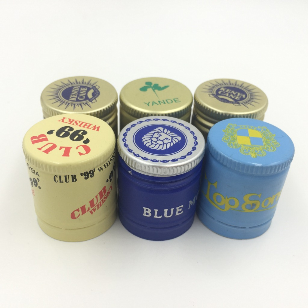 25mm Aluminium Roll-on Pilfer Proof Caps Ropp for Drink Glass Bottle