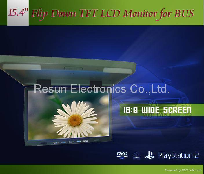 15.4 inch Car Roof Mount TFT LCD Monitor