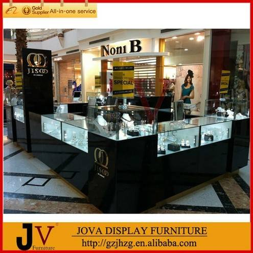 Hot wooden jewelry stands design mall kiosk sale