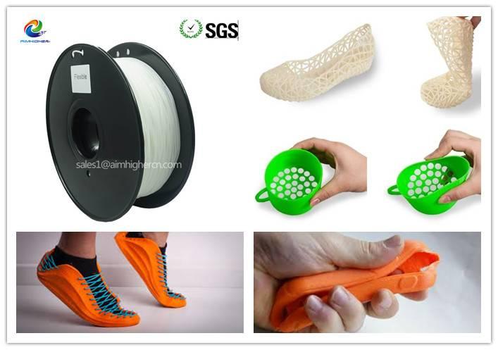 Flexible 3d filament 1.75mm 3.0mm 2.2lbs/SPOOL
