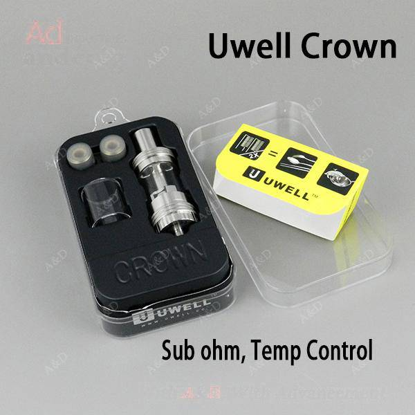 Authentic uwell crown sub ohm tank uwell crown glass tank with heating coil 4ml uwell crown