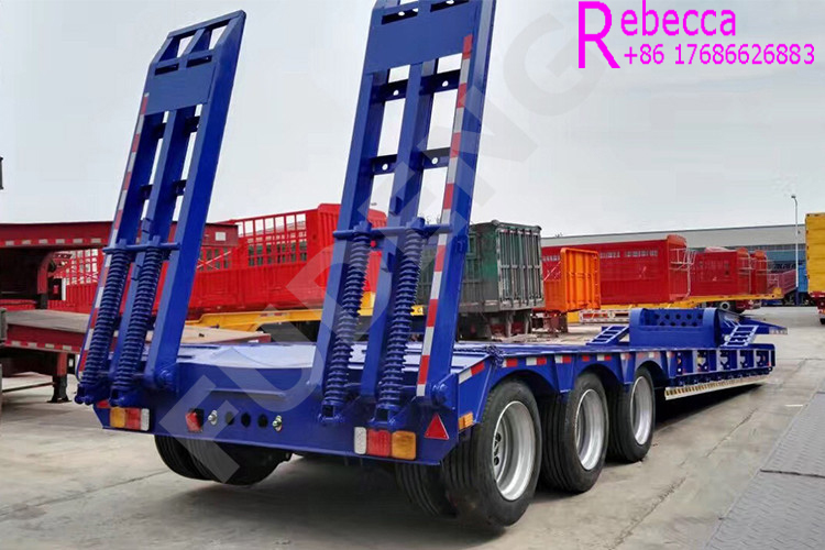 Hydraulic low bed trailer lowboy truck trailer construction equipment low loader trailer