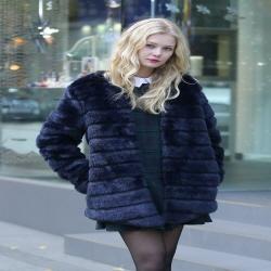 Luxe Glam Faux Mink Fur Coat