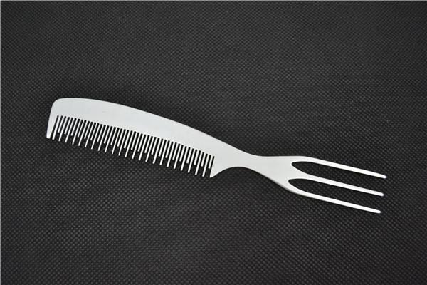 Aluminum Human Hair Makeup Brush Flat Comb